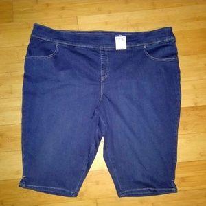 Terra & Sky Pants - Terra & Sky Stretch Denim Capri Jean Plus Pants 5X